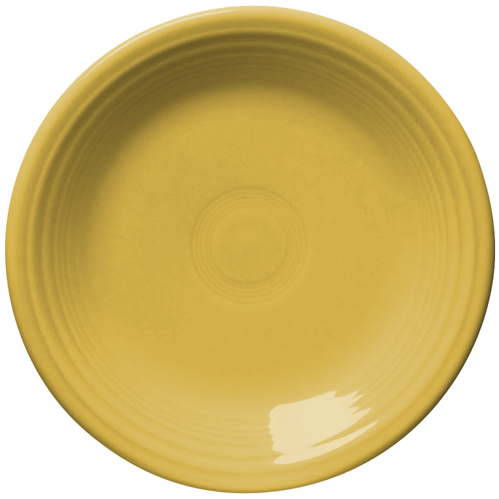 "Homer Laughlin 465320 Fiesta Sunflower 9"" Luncheon Plate - 12/Case"