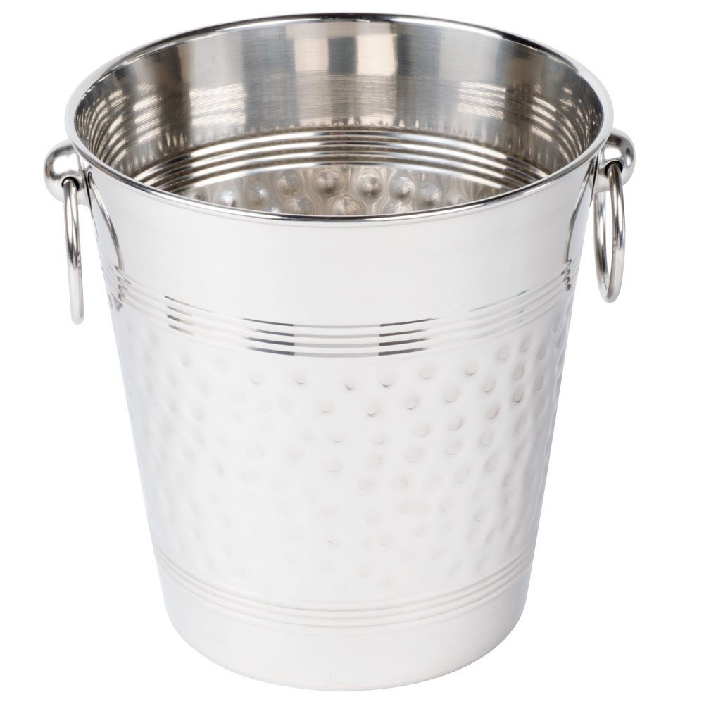 american metalcraft wb hammered stainless steel wine bucket - main picture