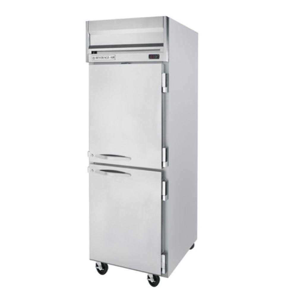 Beverage Air HFPS1-1HS 1 Section Solid Half Door Reach-In Freezer - 24 cu. ft., Stainless Steel Exterior / Interior - Specification Series