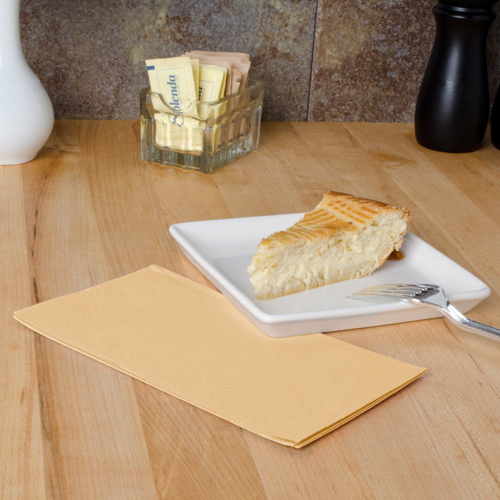 "Hoffmaster 180543 Beige 15"" x 17"" Paper Dinner Napkins 2-Ply - 125/Pack"
