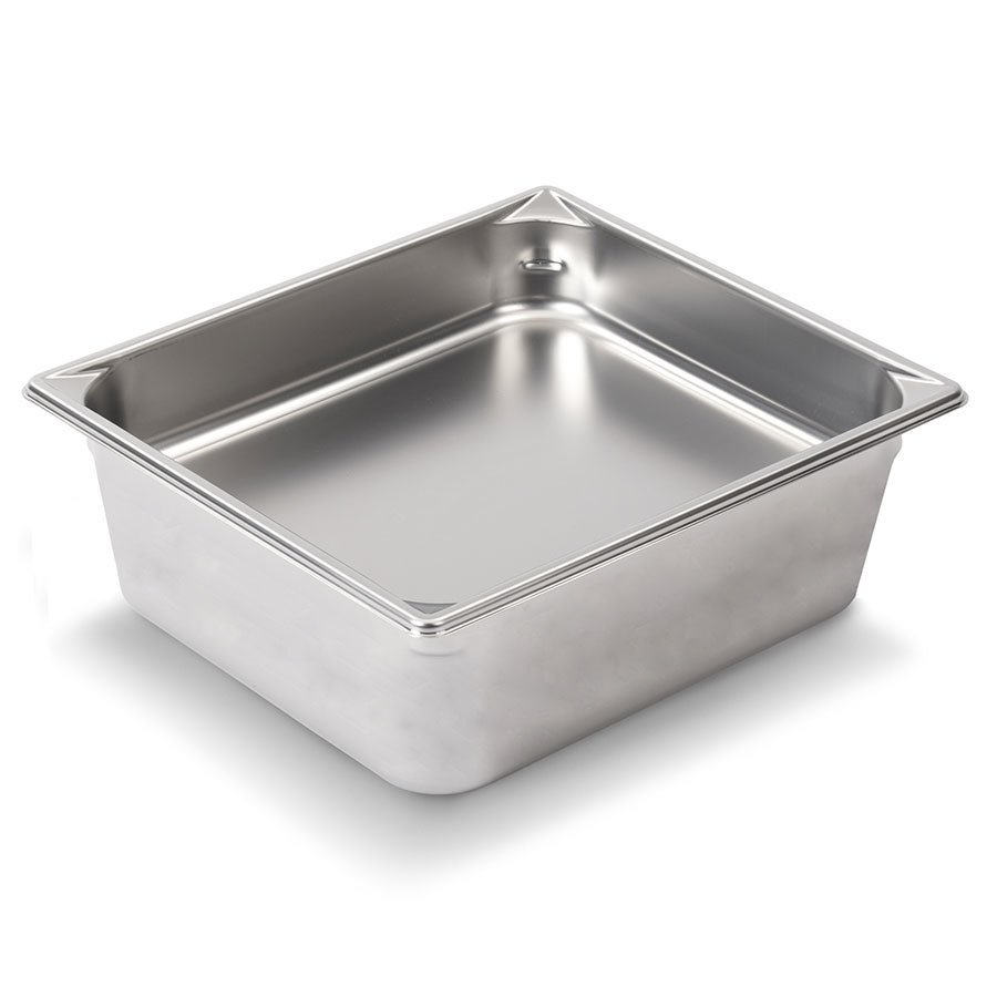 Vollrath Super Pan V 30262 1/2 Size Stainless Steel Anti-Jam Steam Table / Hotel Pan - 6 inch Deep