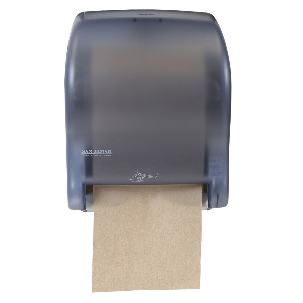 San Jamar T8400tbl Smart Essence Classic Hands Free Paper Towel Dispenser Arctic Blue