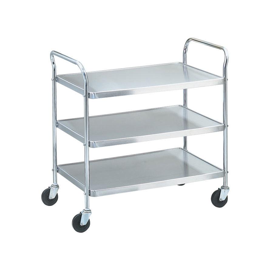 Metal Utility Cart: Vollrath 97105 Knocked Down Stainless Steel 3 Shelf