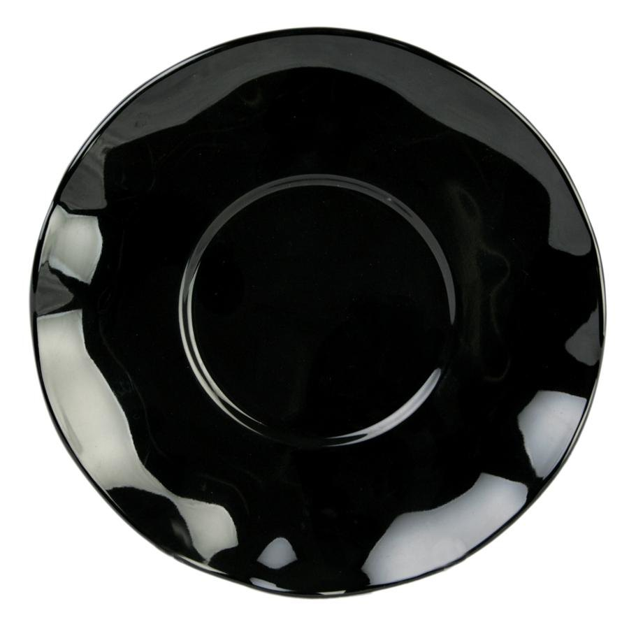 "6 1/2"" Black Pearl Saucer - 12/Pack"