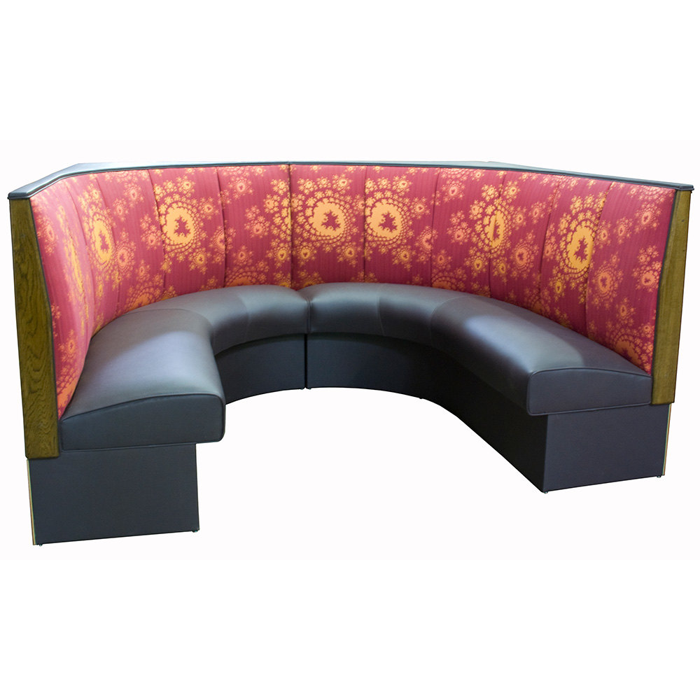 "American Tables & Seating AS-363-3/4 3 Channel Back Upholstered Corner Booth 3/4 Circle - 36"" High"