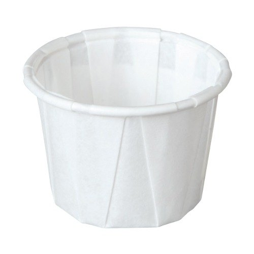 Solo 075 .75 oz. White Paper Souffle / Portion Cup 250/Box