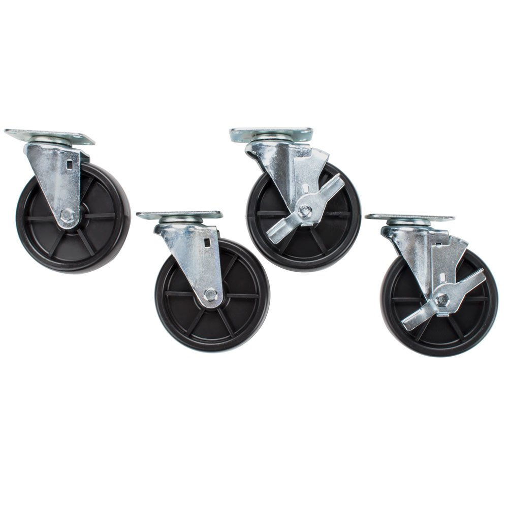 "Avantco CASTER 5"" Casters for Avantco FF300, FF400, FF500, FF518 and Frymaster / Dean Floor Fryers - 4/Set"
