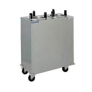 Delfield CAB2-1013ET Even Temp Mobile Heated Plate Warmer / Dispenser Two Stack - 120V, 400W