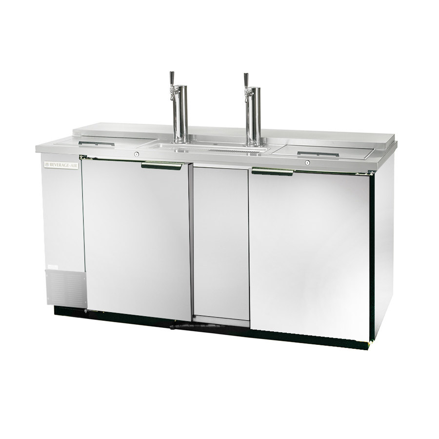"Beverage Air (Bev Air) DD68C-1-S Stainless Steel Finish Front Club Top Beer Dispenser 69"" - 3 Keg Kegerator at Sears.com"