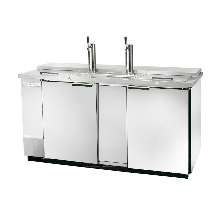"Beverage Air (Bev Air) DD68C-1-S Stainless Steel Finish Front Club Top Beer Dispenser 69"" - 3 Keg Kegerator at Sears.com"