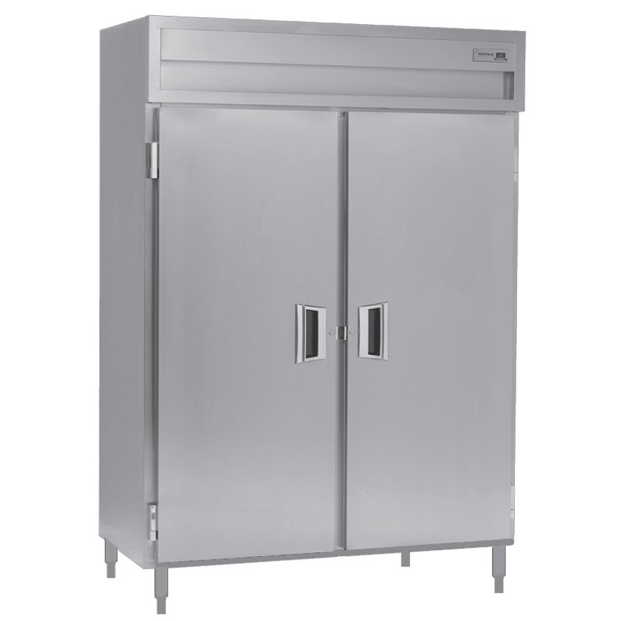 Delfield SMH2-S 51.92 Cu. Ft. Solid Door Two Section Reach In Heated Holding Cabinet - Specification Line