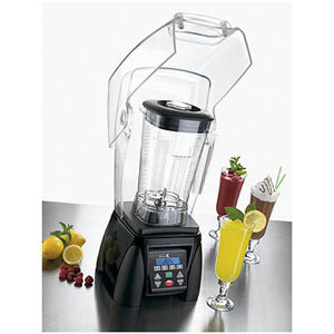 Waring MX1500XTX 3.5 HP Commercial Blender with Programmable Keypad & LCD Screen, Adjustable Speed, 64 oz. Copolyester Container with Sound Enclosure