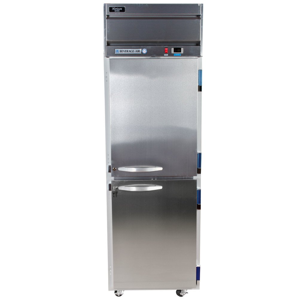 beverage air hf1 1hs 1 section solid half door reach in freezer 24 cu ft stainless steel front gray exterior beverage air hf1 1hs horizon series 26\