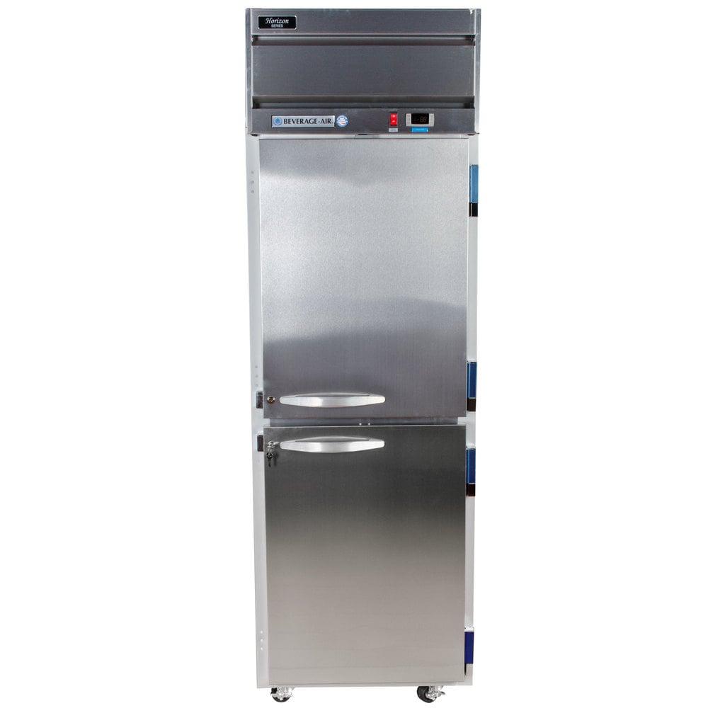 beverage air hf1 1hs 1 section solid half door reach in freezer 24 cu ft stainless steel front gray exterior beverage air hf1 1hs horizon series 26\