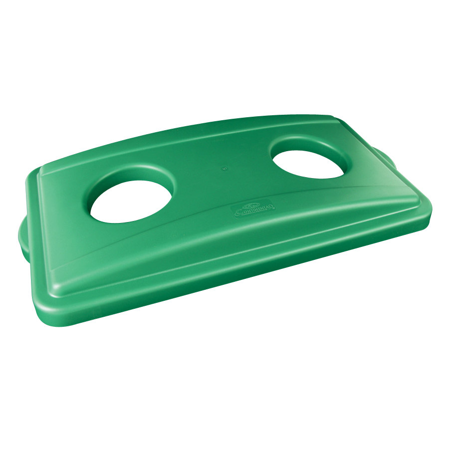 Continental 7316GN Wall Hugger Green Recycle Lid with Holes at Sears.com