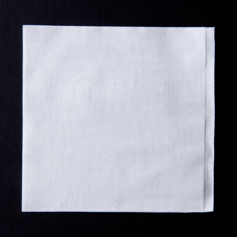 Choice 1-Ply White Beverage / Cocktail Napkin - 4000 / Case