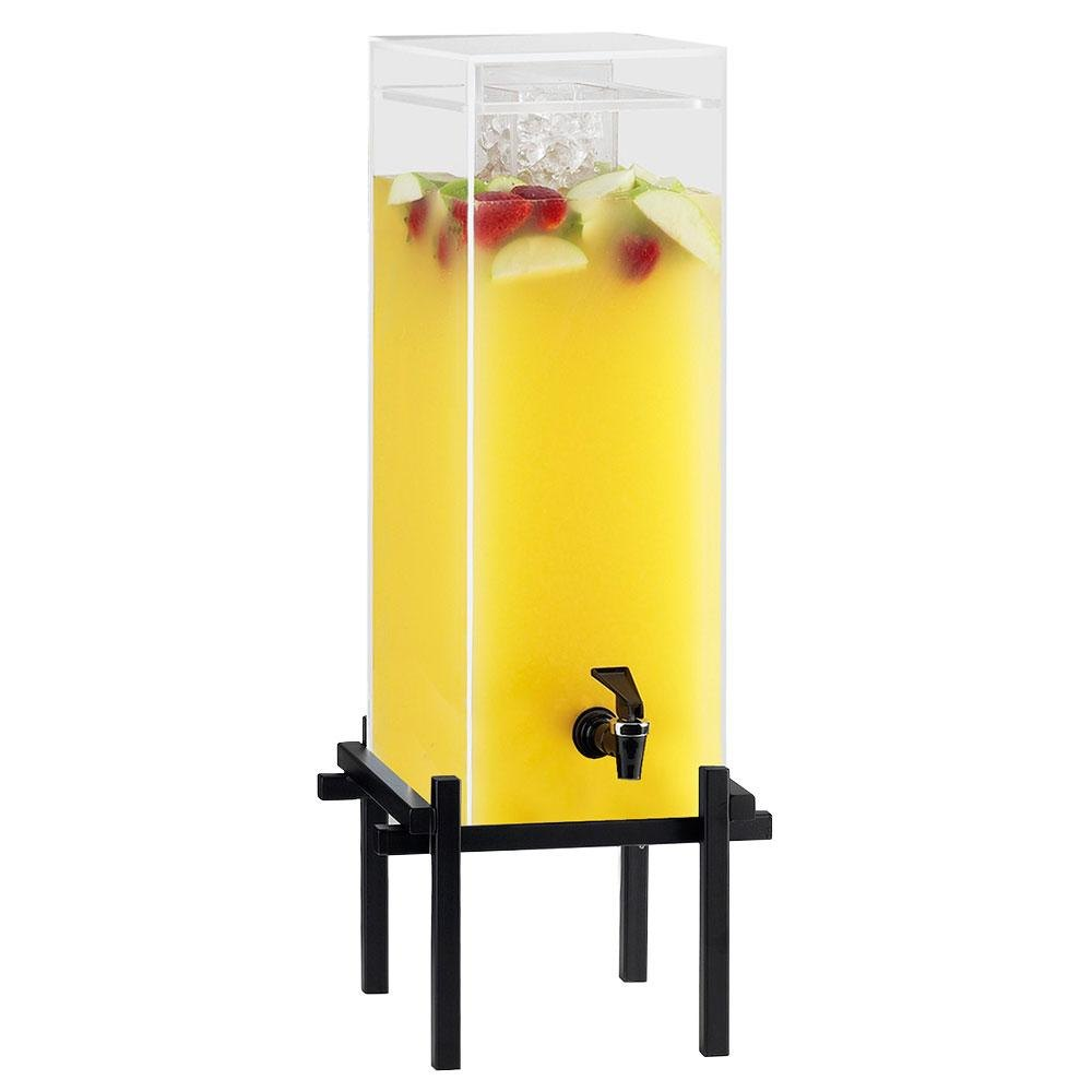 Cal-Mil 1132-5-13 Black One By One 5 Gallon Beverage Dispenser with Ice Chamber