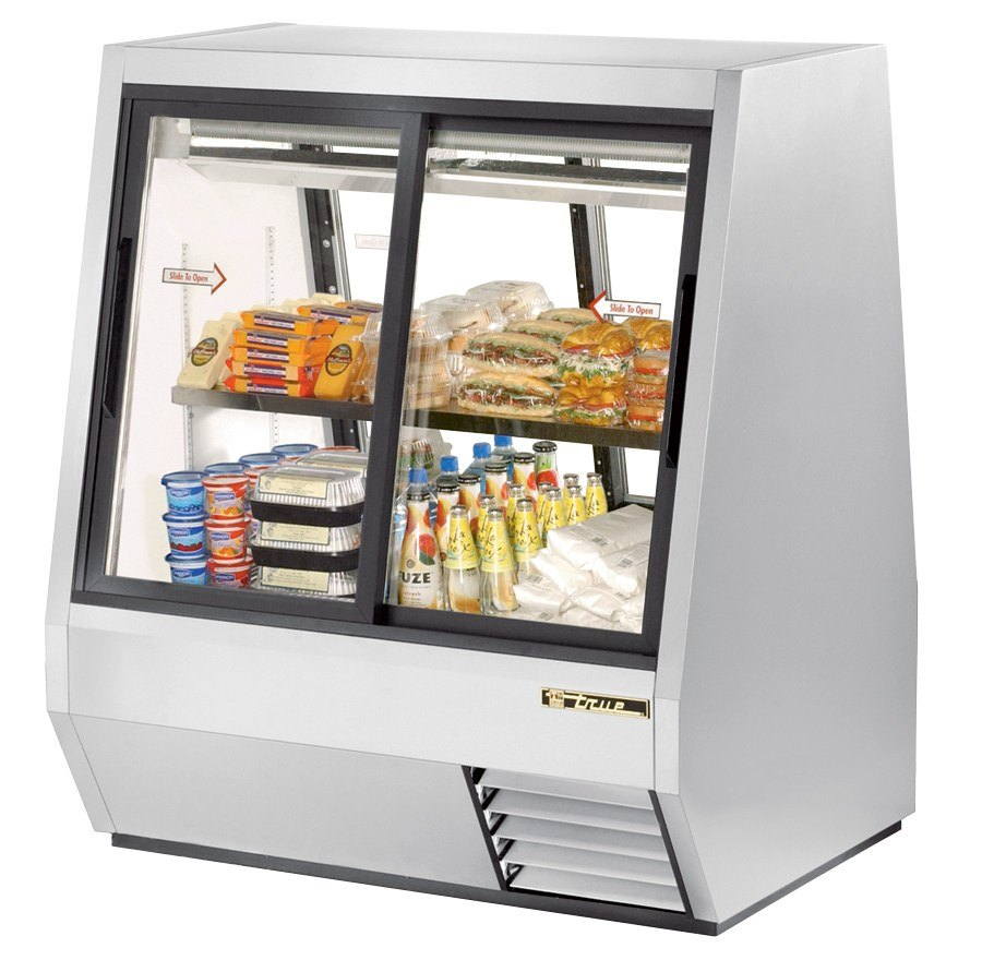 True TDBD-48-4 48 inch Four Door Double Duty Refrigerated Deli Case - 28 Cu. Ft.