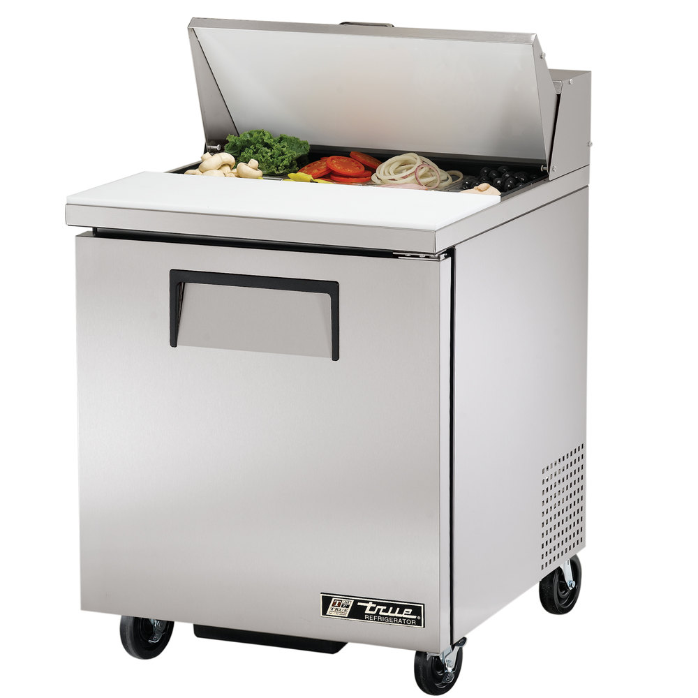 True Tssu 27 8 27 Quot 1 Door Refrigerated Sandwich Prep Table