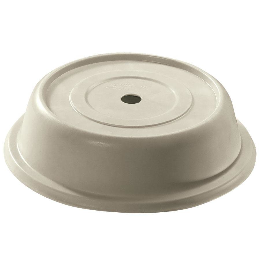 "Cambro 99VS101 Antique Parchment Versa Camcover 9 9/16"" Round Plate Cover 12/Case"