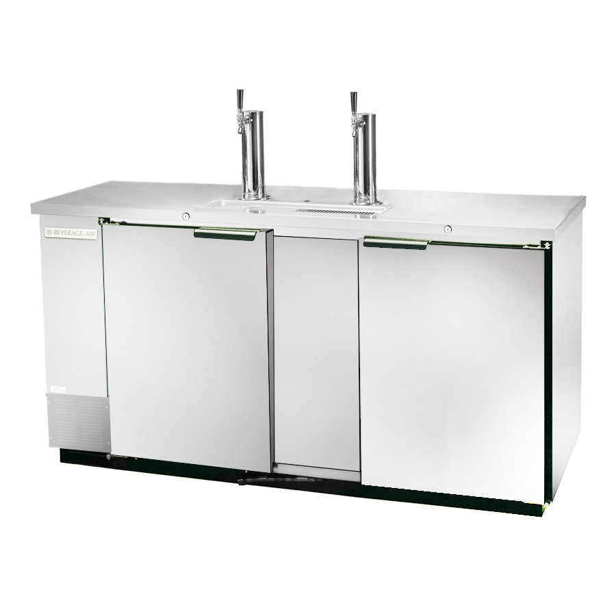 "Beverage Air (Bev Air) DD58-1-S Stainless Steel Beer Dispenser 59"" - 3 Keg Kegerator at Sears.com"