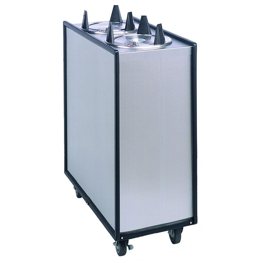 "APW Wyott Lowerator ML2-6.5 Mobile Enclosed Unheated Two Tube Dish Dispenser for 5 7/8"" to 6 1/2"" Dishes"