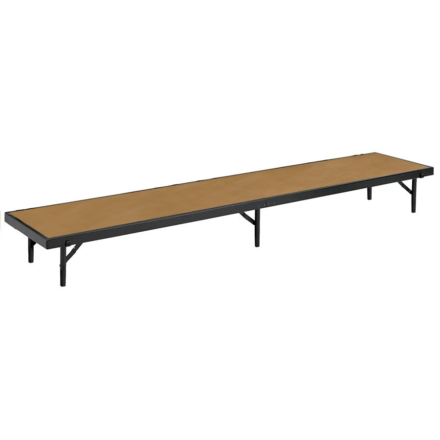 "National Public Seating RS16HB Hardboard Straight Portable Riser - 18"" x 96"" x 16"""
