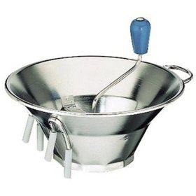 Tellier X3 5 Qt. Stainless Steel Food Mill #3 - 12 inch x 9 3/4 inch