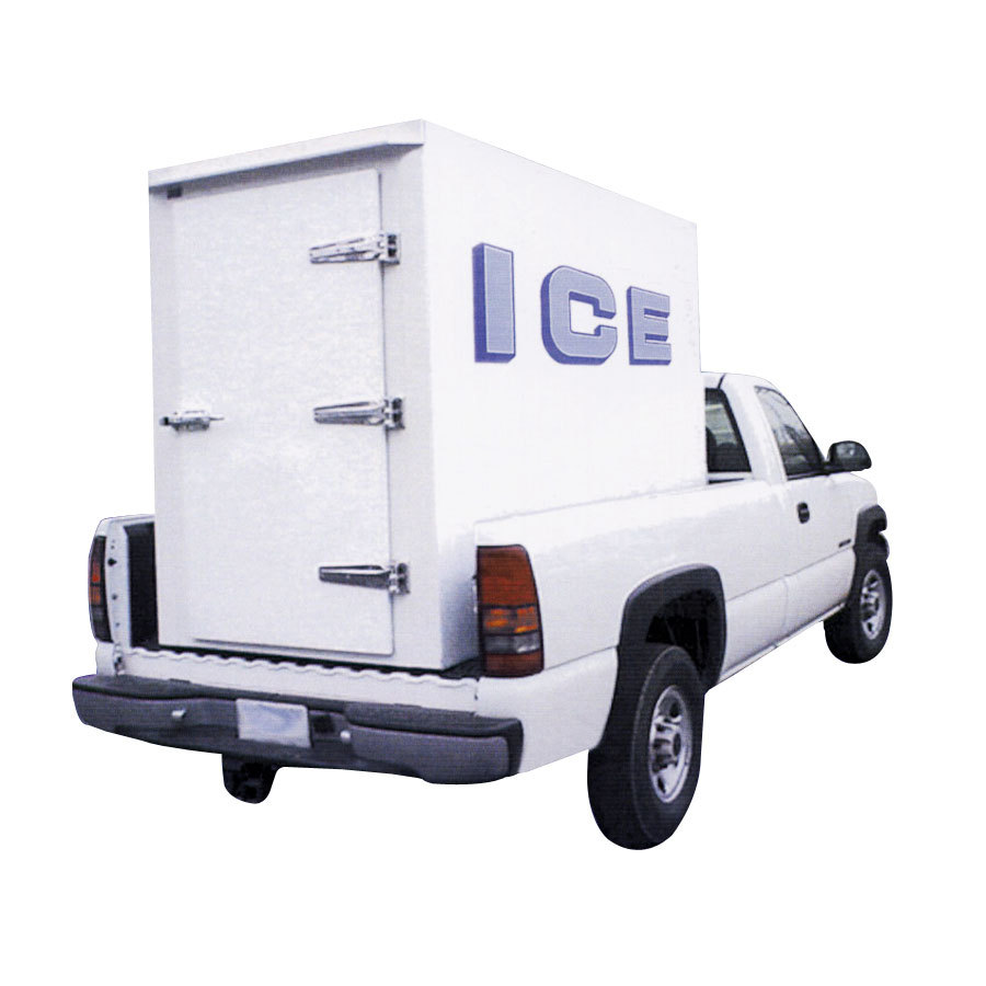 Polar Temp 4X8CW Cold Wall Refrigerated Ice Transport - 140 cu. ft.
