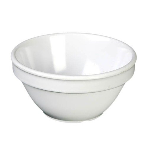 8 oz. White Smooth Melamine Bouillon Cup - 12/Case