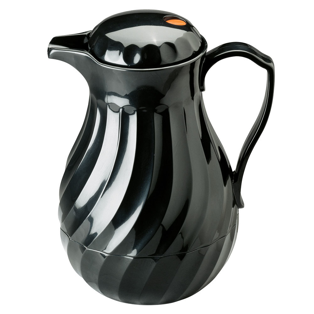 Vollrath 52172 SwirlServe 0.6 Liter Black Hot-N-Cold Beverage Server
