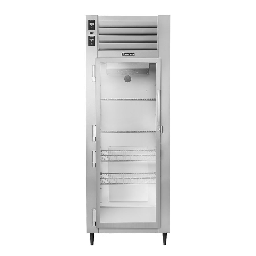 Traulsen AHT132DUT-FHG 17.7 Cu. Ft. One Section Glass Door Narrow Reach In Refrigerator - Specification Line
