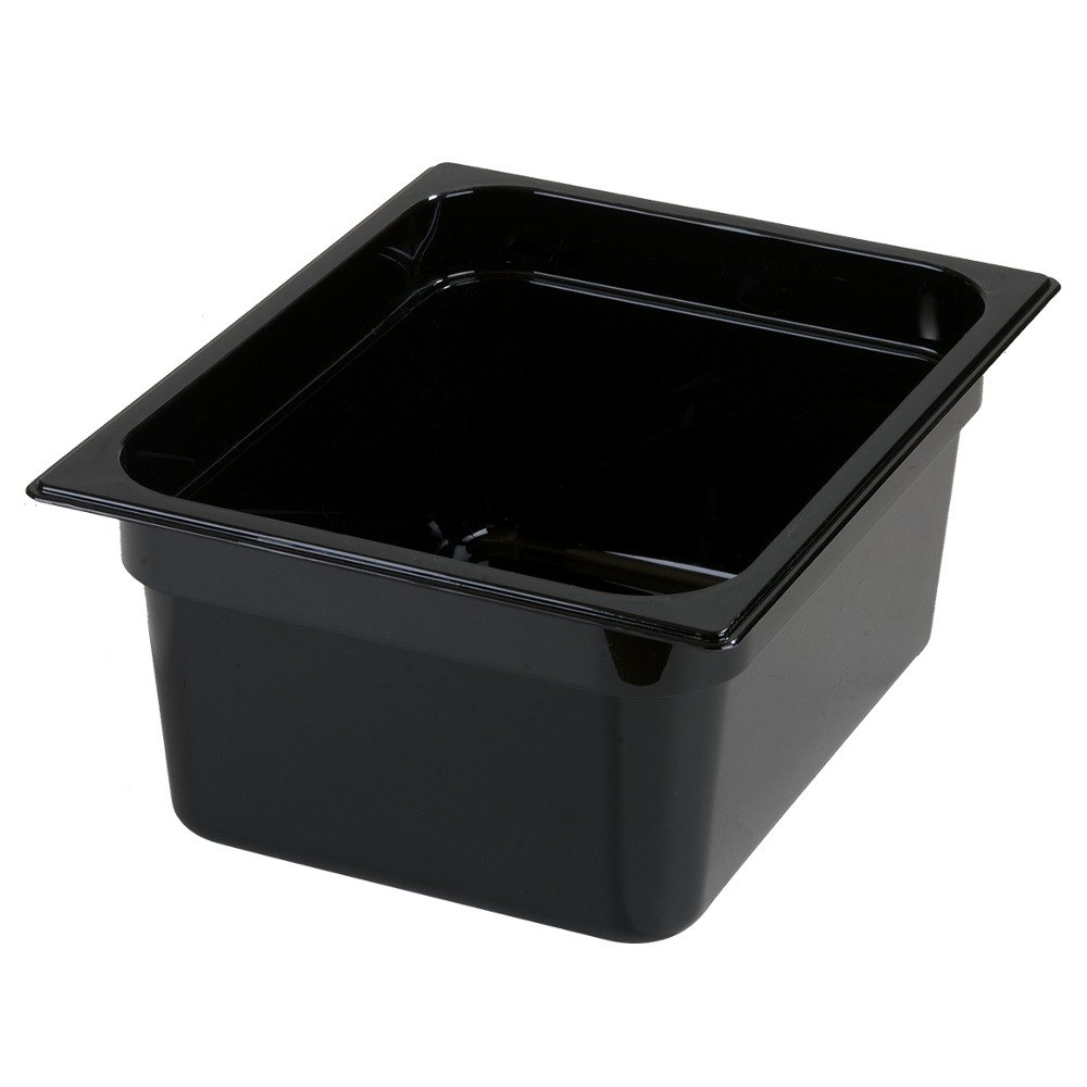"Carlisle 10222B03 1/2 Size 6"" StorPlus Deep Food Pan - Black"