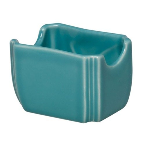 Homer Laughlin 479107 Fiesta Turquoise 3 1/2 inch x 2 3/8 inch Sugar Caddy - 12 / Case