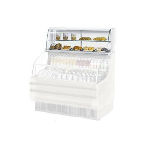 "Turbo Air TOMD-40-H 39"" Top Dry Display Case for Turbo Air TOM-40S Slim Line Open Display Case - White"