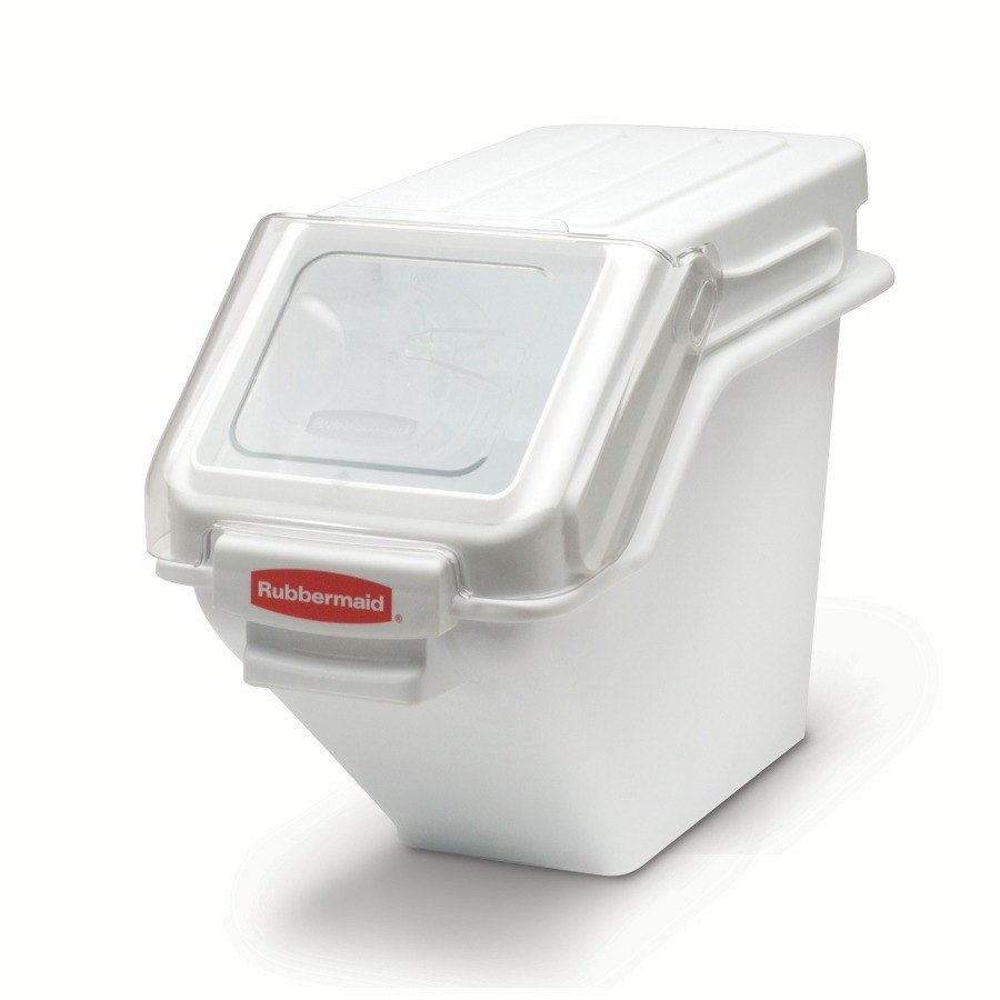 Rubbermaid 9G57 ProSave 6.25 Gallon Safety Storage Ingredient Bin with 2 Cup Scoop (FG9G5700WHT)