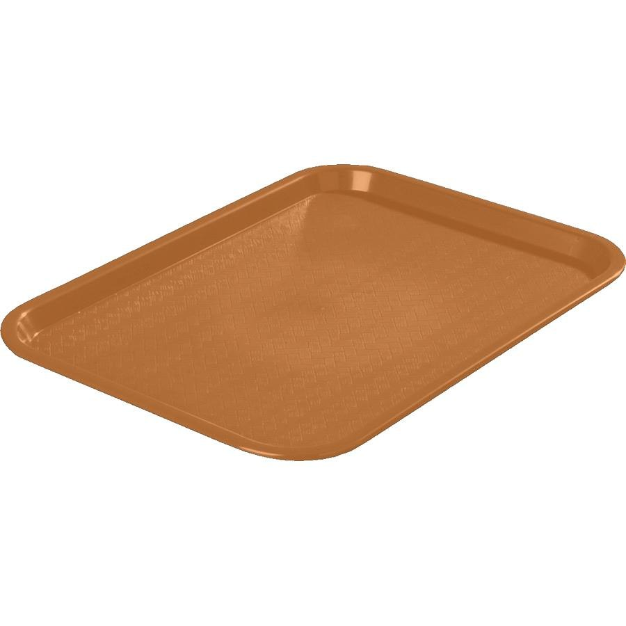 "Carlisle CT121631 Customizable Cafe 12"" x 16"" Light Brown Standard Plastic Fast Food Tray - 24/Case"