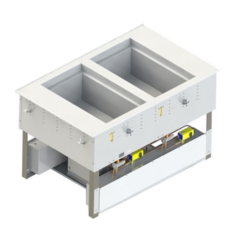 Vollrath 3667202D Modular Two Section Combination Hot / Cold Drop In Food Well - 120/208-240V