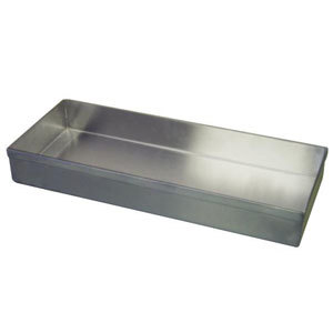 "Winholt WHSSBX-830/2H/4DH Stainless Steel Display Tray with Drain Holes - 8"" x 30"" x 2"""