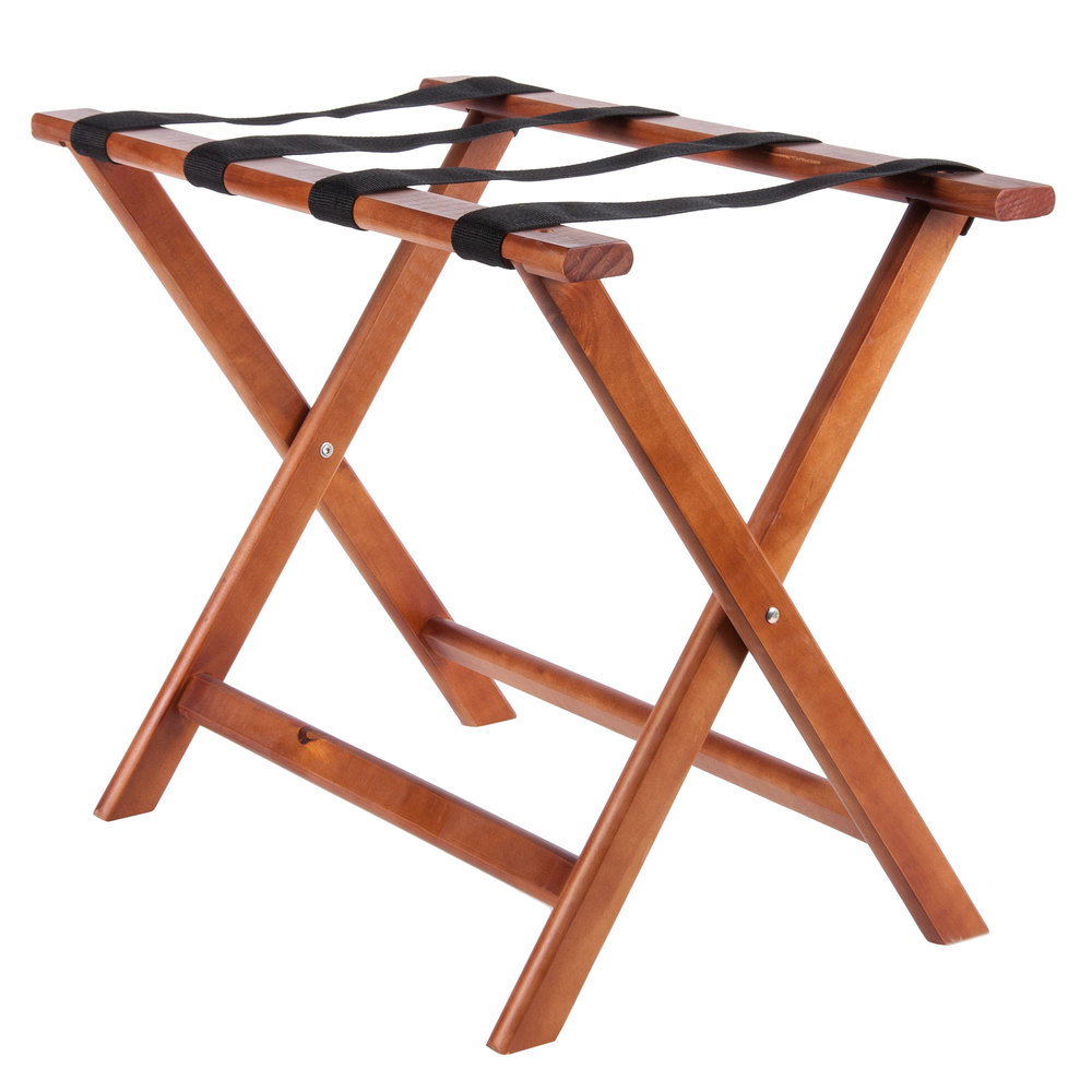 lancaster table seating wood folding luggage rack. Black Bedroom Furniture Sets. Home Design Ideas