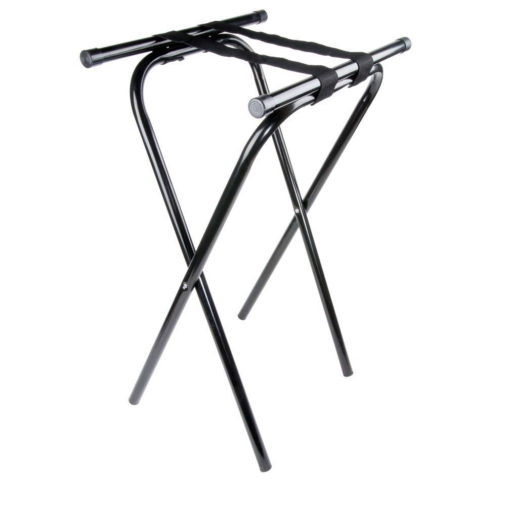31 inch Folding Black Metal Tray Stand