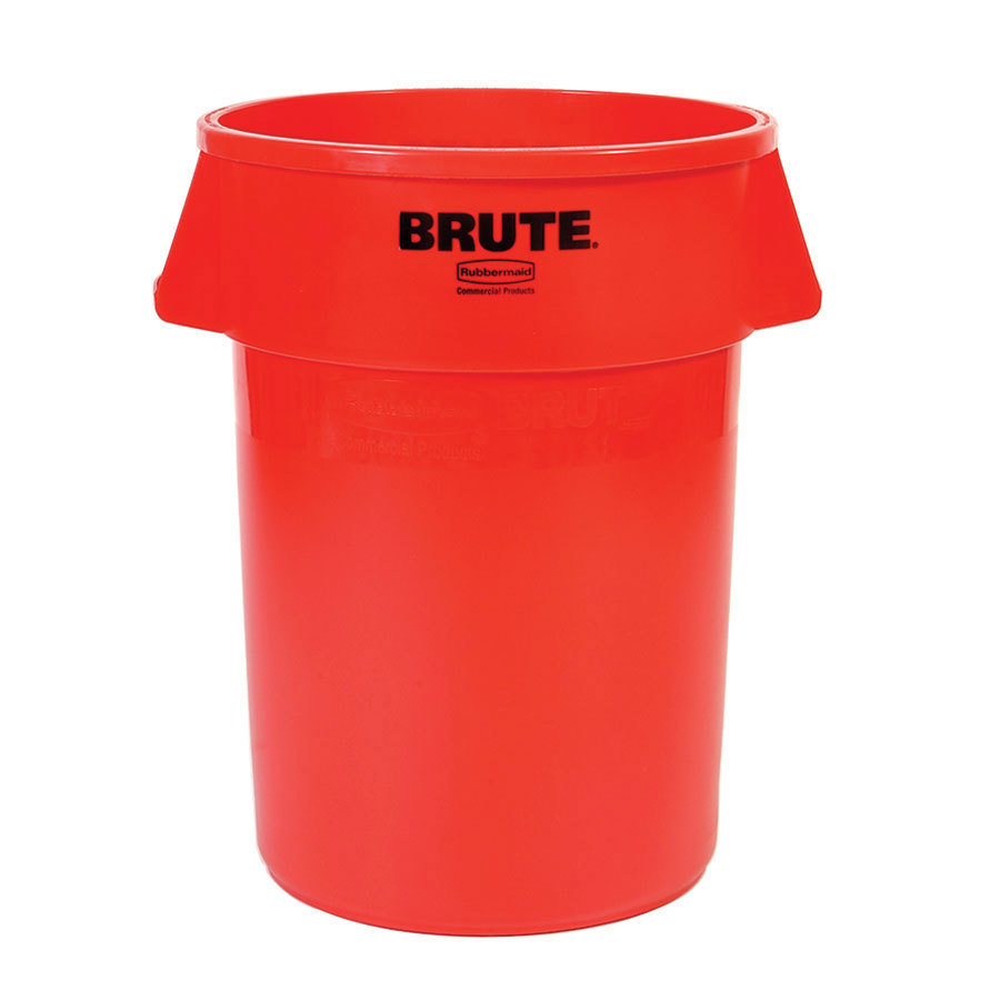 Rubbermaid Brute FG264300RED Red 44 Gallon Trash Can