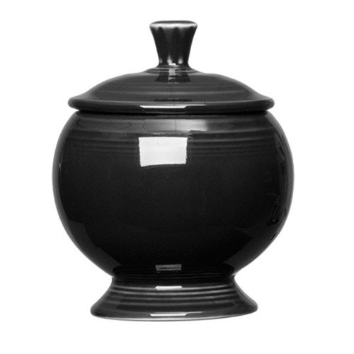 Homer Laughlin 498101 Fiesta Black 8.75 oz. Sugar Dish - 4 / Case