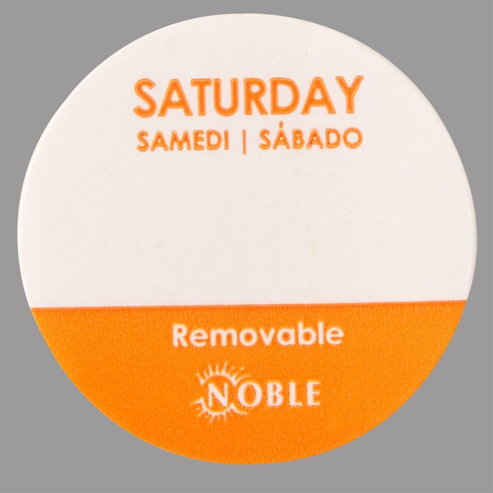 Noble Saturday Removable Day of the Week Dot Label 1 inch – 1000 / Roll