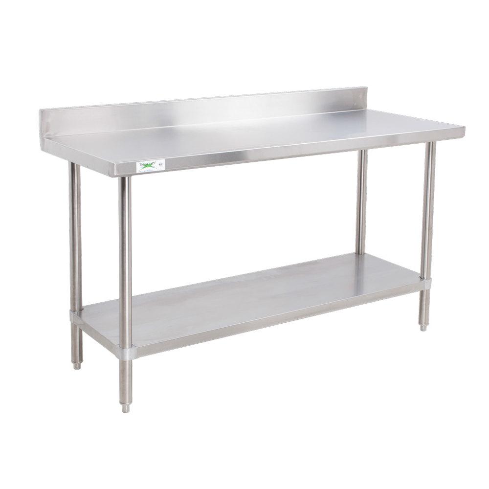 Regency 16 Gauge All Stainless Steel Commercial Work Table