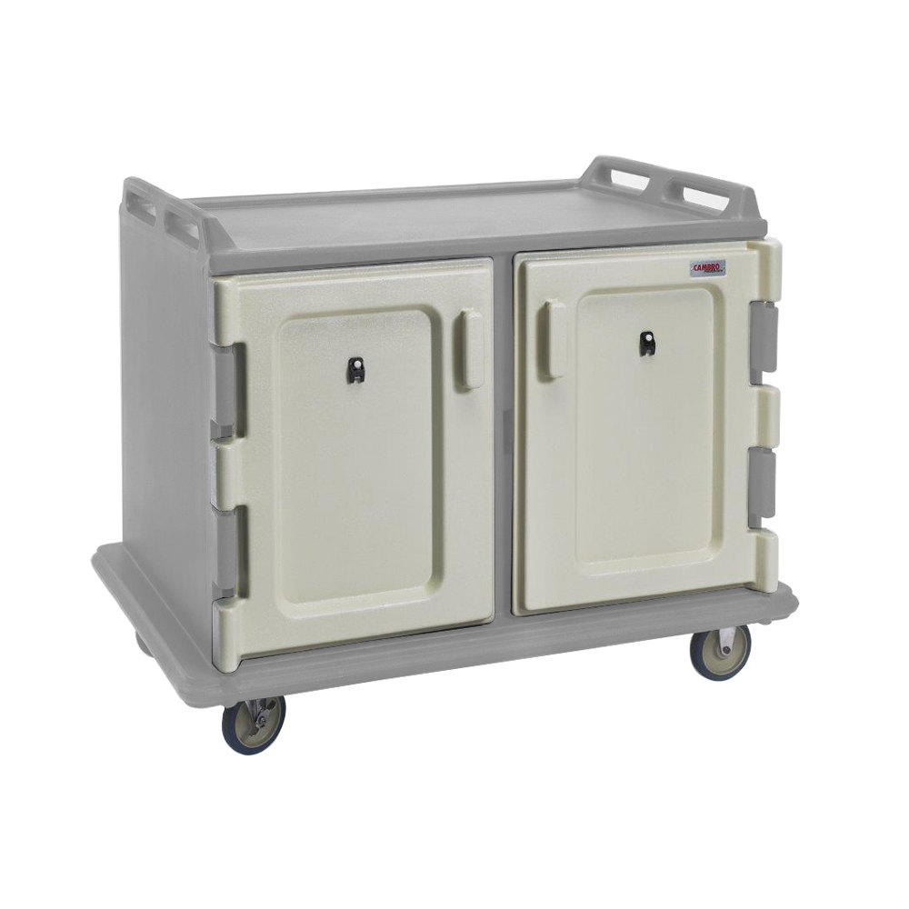 Cambro MDC1520S20180 Light Gray Meal Delivery Cart 20 Tray