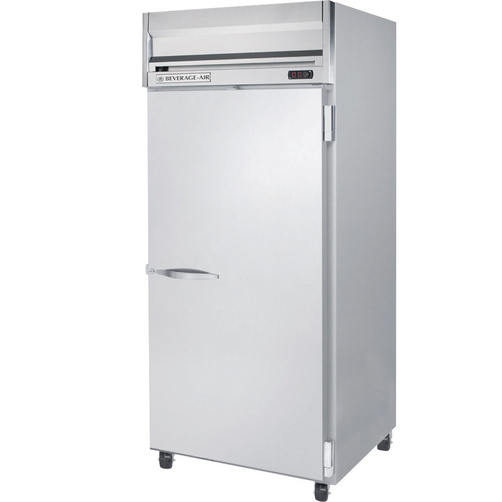 "Beverage Air HR1W-1S 35"" Horizon Series One Wide Section Solid Door Reach in Refrigerator - 34 Cu. Ft."