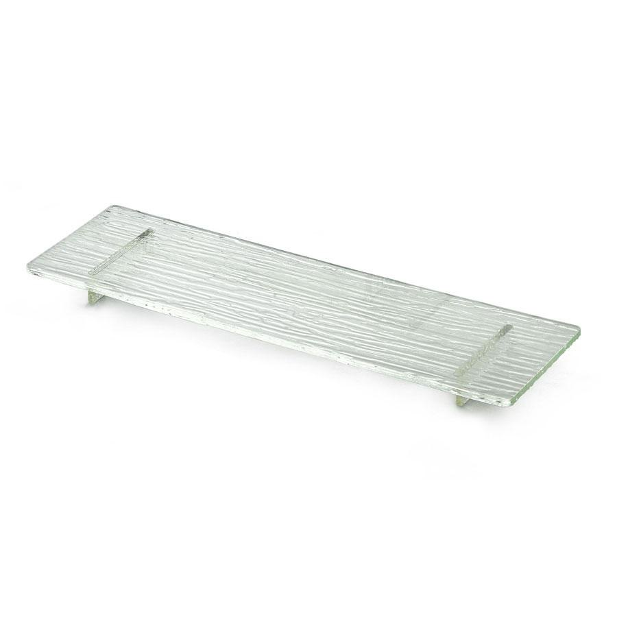 "Tablecraft ARL1 Cristal 16"" Rectangle Acrylic Riser with Straight Legs"
