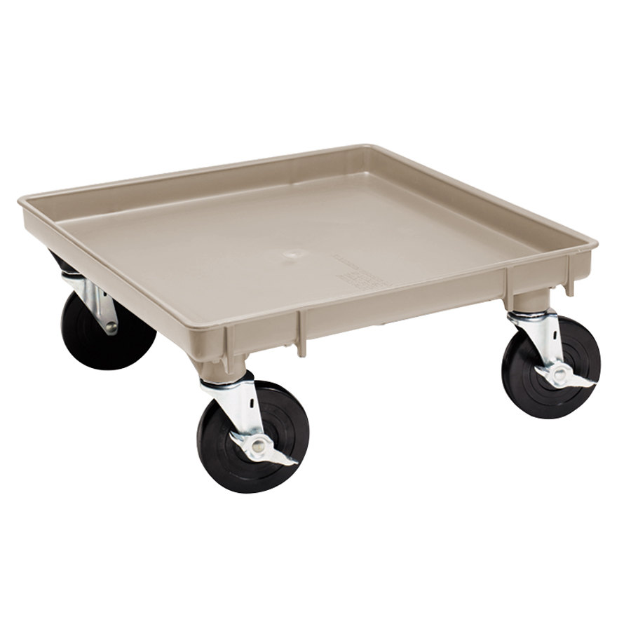 "Vollrath 1697-32-LC2 Traex Recycled Beige Rack Dolly Base (No Handle) - 21"" x 21"""