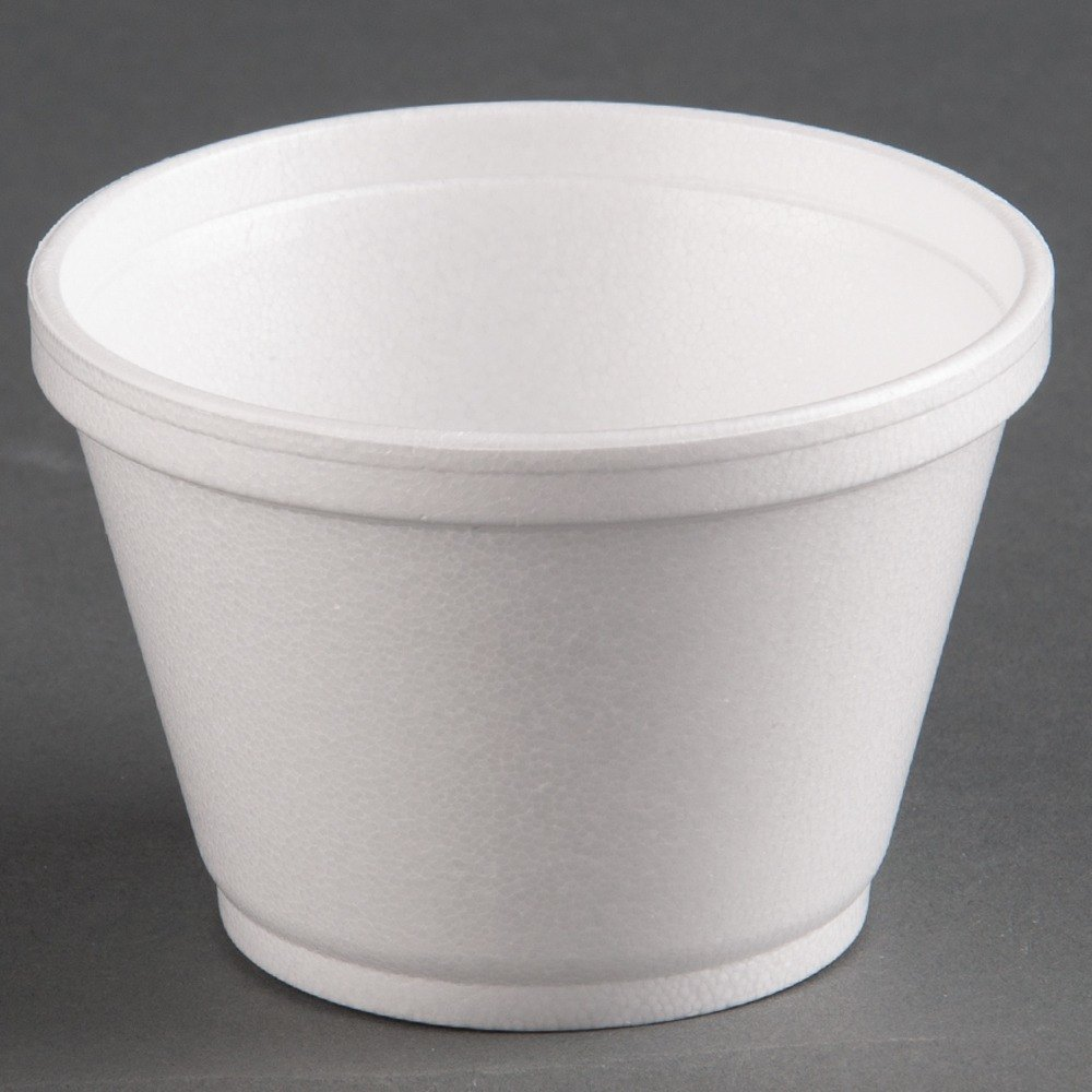 Dart 8SJ12 8 oz. Customizable Squat White Foam Food Bowl 1000 / Case